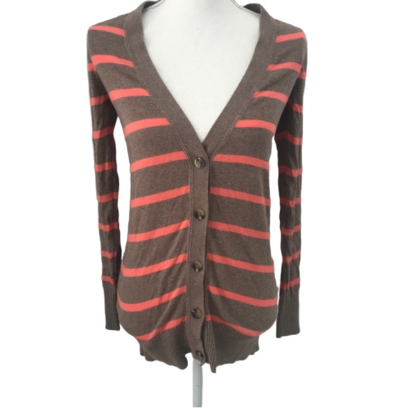 Mossimo Supply Co. Sweaters - Mossimo brown and coral cardigan size Small